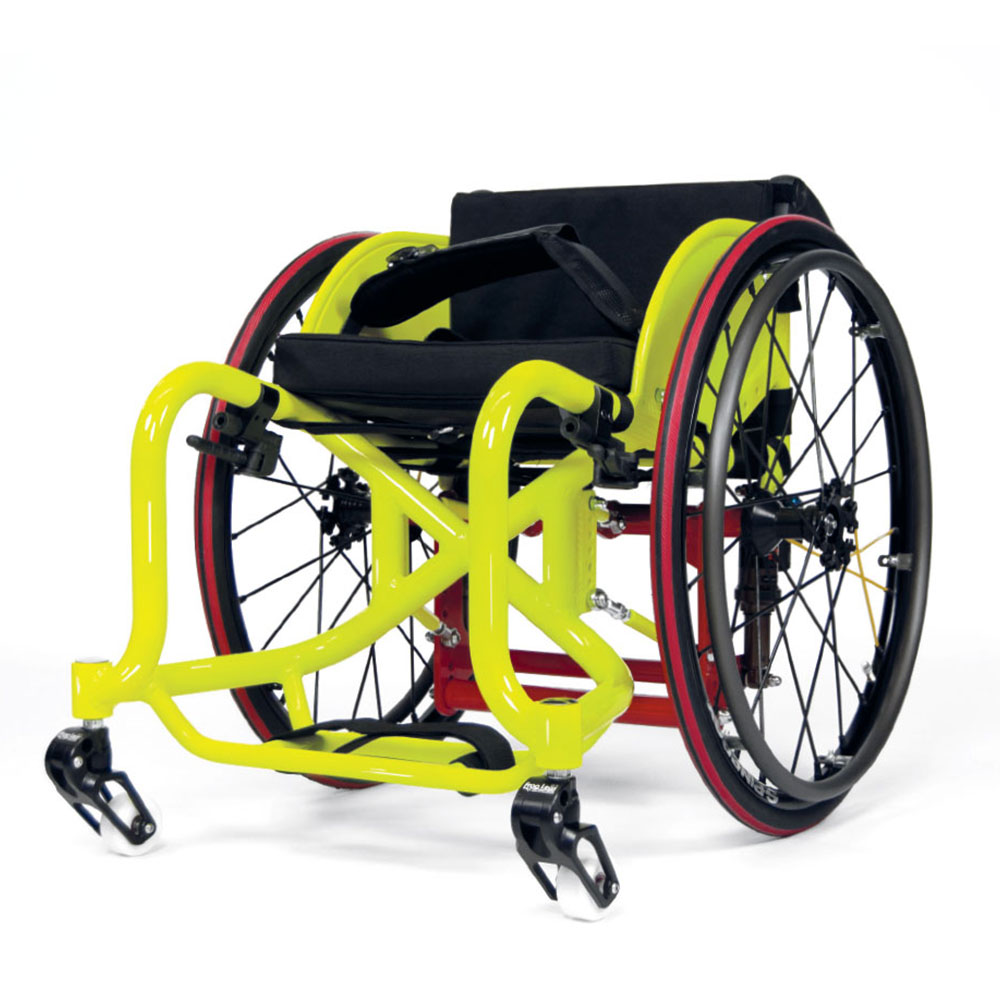 wcmx wheelchair spinergy wheels aluminum frame shock absorbers skate wheelchair spinergy wheels frogs legs frog legs castors RMA Sport